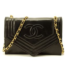 Chanel Single Chain Shoulder Bag In Black - Beyond the Rack