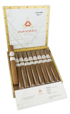 Montecristo White Series Cigars ~ Reminiscent of the original, the Montecristo White Series cigar boasts a lovely, hand selected Ecuadorian Connecticut Shade wrapper. With a Nicaraguan binder and a blend of select Dominican and Nicaraguan long fillers, these cigars make for a rich and savory medium-bodied smoke with notes of vanilla and a creamy, nutty finish. The Montecristo White Series continues Montecristo's fine tradition of being the world's most sought after cigar.