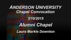 Alumni Chapel speaker on March 10, 2015, featured AU alum Rev. Laura Markle Downton, NRCAT's Director of U.S. Prisons Policy & Program.