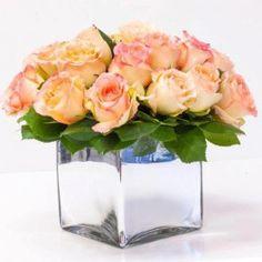 Peach Roses Squared