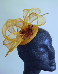 amazing yellow cocktail hat by Emma on Etsy
