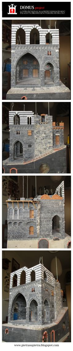 The Domus project - Summer '15 - The Domus project is the construction in scale 1:50 of an imaginary medieval palace. It's made of clay, stones, slate, wood and other construction materials in the style of rich genoese buildings from the middle of XIV century.