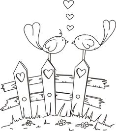 Freebie: Digital Love Birds Stamp