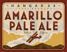 Hangar 24 Craft Brewery: Amarillo Pale Ale Label