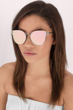 1a3d87b80d6c04 Lunette de soleil aviator rose gold - Tobi   15,14 € Mirrored Aviator  Sunglasses