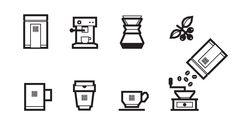 Koffie op je deurmat icon design by Pony Design Club.