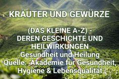 KRÄUTER UND GEWÜRZE (DAS KLEINE A-Z) - DEREN GESCHICHTE UND HEILWIRKUNGEN
