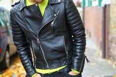 New Mens Genuine Lambskin Leather Jacket Black Slim fit Biker Motorcycle Leather Jacket Outfits, Lambskin Leather Jacket, Leather Jackets, Pockets Menswear, Biker Wear, Fashion Moda, Men's Fashion, Jacket Style, Jacket Men