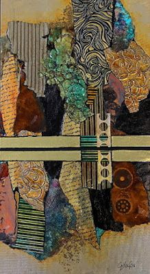 'Calgary Demo' mixed media abstract art by Carol Nelson Collages, Collage Art, Collage Ideas, Art Ideas, Mixed Media Canvas, Mixed Media Art, Encaustic Art, Wow Art, Wall Art Designs