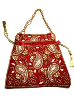 Bollywood Indian/Pakistani Clutch Handbag Batwa Wedding bag handmade