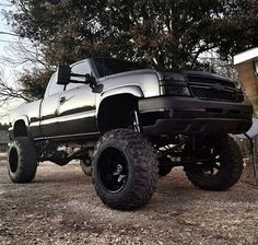Black Chevy Extended Cab