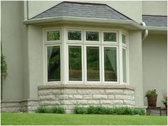 Bay Windows Bay Window White Trim Carron S House Exterior