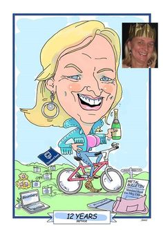 Caricature commissioned for 12 years service