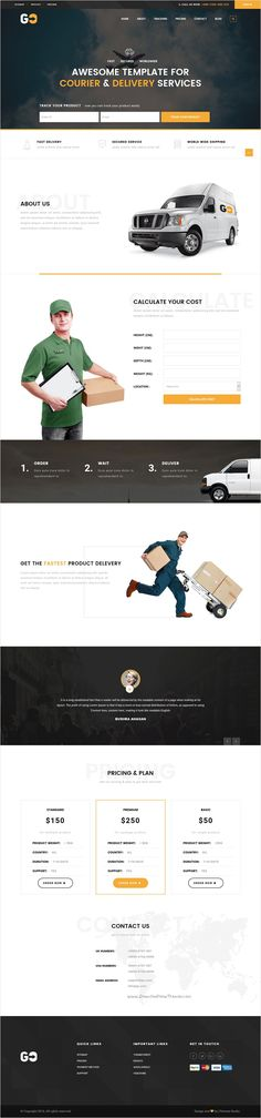 Go Courier is a wonderful 2 in 1 responsive #WordPress #theme for #cargo, #logistics or courier and delivery company website download now➩ https://themeforest.net/item/go-courier-a-courier-delivery-service-wordpress-theme/16141418?ref=Datasata