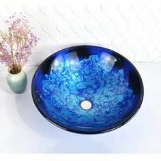 Bathroom Basin, Sink Faucets, Glass Basin, Vessel Sink, Decorative Bowls, Modern, Artist, Trendy Tree, Utility Sink Faucets