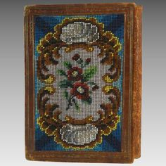 Antique Beaded Hand Made Booklet Note Book Romantic Lace, Treasure Boxes, Little Books, Close Image, Booklet, Needlework, Notebook, Victorian, Notes