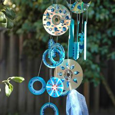 """""""Wishing Tree"""" Summer Camp at Montalvo Arts Center, Summer 2015. The participants are invited to make wishes and to create an ensemble of chimes, mobiles and banners that will be installed on the beautiful grounds of Montalvo. They will use all sorts of materials, mostly recycled."""
