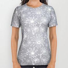 Stylized Dandelion Light  #society6 #decor #buyart All Over Print Shirt