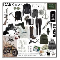 """""""The Walking Dead"""" by paula-mm on Polyvore featuring ThinkGeek, Topshop, Sibling, Goody, Stolen Girlfriends Club, Corral, M&F Western, Majestic Filatures, Charlotte Tilbury and Ray-Ban"""