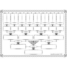 DIY Printable Family Tree PDF Template 8x10, Type in your names ...