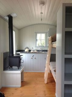 Stove on a platform shepherds hut bespoke towable Glamping, Garden Room, Home Office, Camping Pod Glamping, Garden Huts, Camping Pod, Campsite, Shepherds Hut, Tiny Spaces, Tiny House Living, Cabin Homes, Tiny Homes