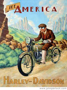 vintage harley davidson poster - Google Search