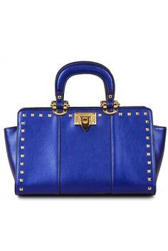 Premium Studded Deco with Shoulder Strap Satchel Bag