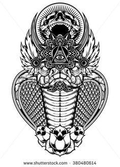 Cobra Skull Vector