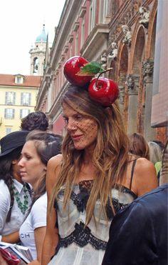 Anna Dello Russo's magnificent cherry hat