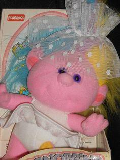 "1989 Playskool Aunt Bridey Hobnobbins Troll 9"" Plush Vintage Stuffed Toy #Playskool"