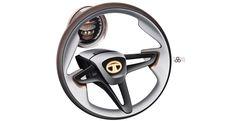 Tata Megapixel Concept - Steering wheel Design Sketch - Car Body Design