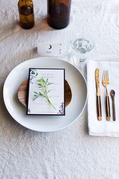 Local Milk | makr x local milk: d.i.y. menus + place cards & clams in saffron mint broth