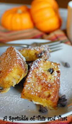 Pumpkin Bread French Toast is the perfect weekend breakfast!