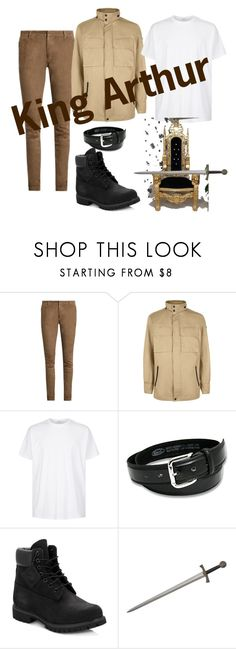 """King Arthur"" by miaafrodite ❤ liked on Polyvore featuring Balmain, Victorinox Swiss Army, Givenchy, Timberland, men's fashion and menswear"