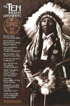 Indian 10 Commandments - united-states-of-america Photo