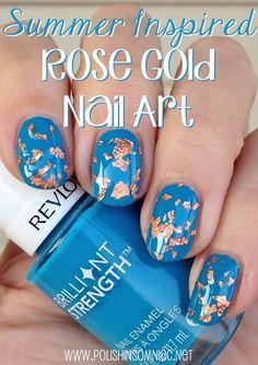 polish insomniac: Summer Beauty Inspired Rose Gold Tutorial with #walgreensbeauty #shop #nailart