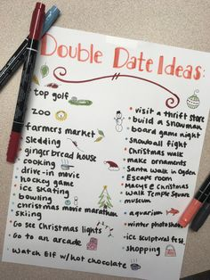 Double date ideas for fall/winter