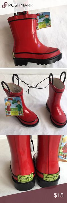 NWT Western Chief Rain Boots sz 6 NWT Western Chief FIRE CHIEF RED rain boots SIZE 6 never worn. 100% waterproof rainboot Rubber upper Two handles for easy on/off 🚫no trades pls. Western Chief Shoes Rain & Snow Boots