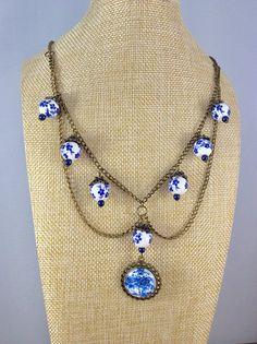 Antique necklace Ladies necklace Vintage necklace  Elegant