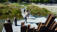 Project: Tanner Springs Park Location: Portland Oregon Designers: Atelier Dreiseitl and GreenWorks, P.C. More Info Available at: www.portlandonlin...