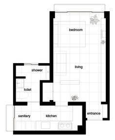House Plans Under 50 Square Meters: 26 More Helpful Examples of Small-Scale Living,Cortesía de JAM Small House Plans, House Floor Plans, Nook Architects, Archdaily Mexico, Apartment Plans, Square Meter, Building A New Home, Designs To Draw, Interior Inspiration