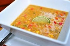 Thai coconut corn stew-1/2 tbsp coconut oil  1 cup onion, diced  1 cup celery, diced  3 medium cloves garlic, minced  1 tbsp fresh ginger, grated  1/2 – 3/4 tsp coriander seeds  3/4 – 1 tsp sea salt  1/4 tsp crushed red pepper flakes (or to taste)  1 stalk lemongrass (see note)  4 cups frozen corn kernels  2 cups vegetable stock  1 can (14-oz/400-ml) light coconut milk (may use regular)  1 cup red bell pepper, diced  11/2 – 2 tsp lime zest (zest limes before juicing, see below)  2 – 3 tbsp…