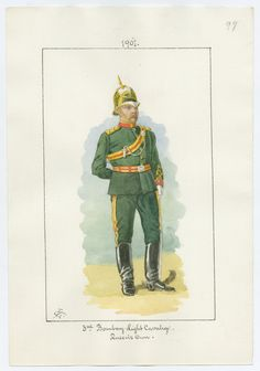 Indian Army; 3rd Bombay Light Cavalry(Queen's Own) British Officer, 1901 by Charles Lyall