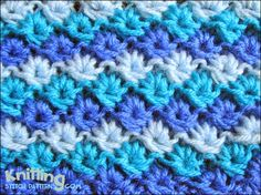 The stitch creates a multiple colors design  |  knittingstitchpatterns.com