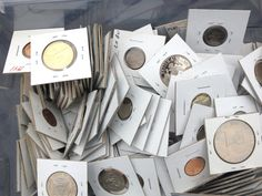 #coins U.S.A. 15 PROOF COINS LOT ALL DIFFERENT FROM STORAGE AUCTION HOARD #5 please retweet