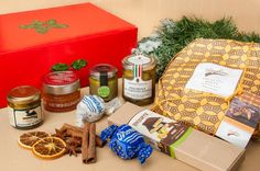 Trout Cheeks, Clementine Mustard, Truffle-Flavored Peschiole, Nougat with Sponge Cake and Lemon Liqueur DolciTerre, Pistachio Cream, Sweet Focaccia, Rum and Gianduja Dronereses. Buy our Exclusive Christmas Box by 27/11! #italianfable   #buonappetito   #italianchristmasbox www.italianfable.com