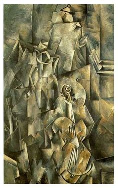 Broc et violon: by Georges Braque (Kunstmuseum Basel) - Cubism Cubist Paintings, Cubist Art, Abstract Art, Oil Paintings, Art History Timeline, Art Timeline, Alberto Giacometti, Oil Painting Reproductions, Oeuvre D'art