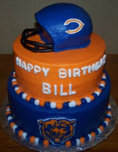 Chicago bears cake This needs to be mine on September 22nd