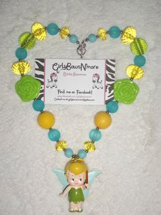 Tinkerbell Necklace - Chunky Necklace - Childrens Jewelry