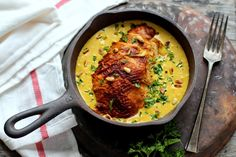 This is one of those recipes I almost fell in love with on Food Network. I made this at home and like expected, my husband and I completely enjoyed the rich flavors of this dish. The best part abou…